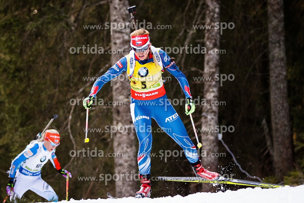 Gabriela Soukalova (CZE) competes during Women 10 km Pursuit at day 3 of IBU Biathlon World Cup 2015/16 Pokljuka, on December 19, 2015 in Rudno polje, Pokljuka, Slovenia. Photo by Ziga Zupan / Sportida
