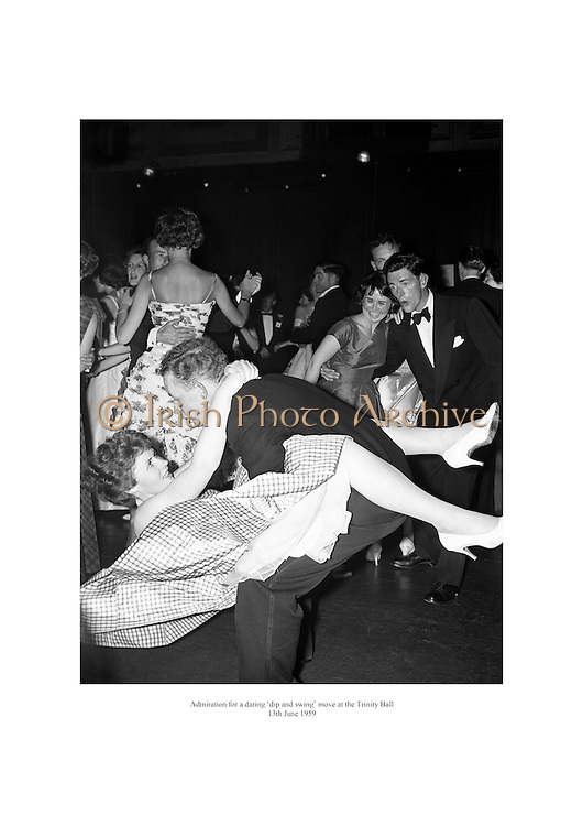 Admiration for a daring 'dip and swing' move at the Trinity Ball.<br />