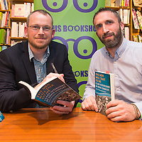 Pádraig Óg Ó Ruairc and Local Historian Dr Tomás Mac Conmara at the Launch of 'The Men Will Talk To Me' in Ennis Bookshop