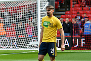 Gaston Ramirez (21) of Middlesborough warming up before the Premier League match between Bournemouth and Middlesbrough at the Vitality Stadium, Bournemouth, England on 22 April 2017. Photo by Graham Hunt.