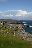 Cliffs at Dun Aonghus fort, Inis Mor the Aran Islands, Connemara, County Galway, Ireland.
