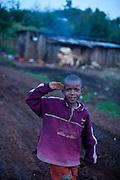 Njabini, Kenya - the Flying Kites orphanage or  children's home near the Abaerdares mountains.