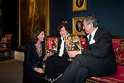 Ainie Keat; Dowager Lady Jacqueline Killearn; Dr.  John Keat, Preview party for the Versace Sale.  The contents of fashion designer Gianni Versace's villa on Lake Como. Sothebys. Old Bond St. London. 16 March 2009.  *** Local Caption *** -DO NOT ARCHIVE -Copyright Photograph by Dafydd Jones. 248 Clapham Rd. London SW9 0PZ. Tel 0207 820 0771. www.dafjones.com<br /> Ainie Keat; Dowager Lady Jacqueline Killearn; Dr.  John Keat, Preview party for the Versace Sale.  The contents of fashion designer Gianni Versace's villa on Lake Como. Sothebys. Old Bond St. London. 16 March 2009.