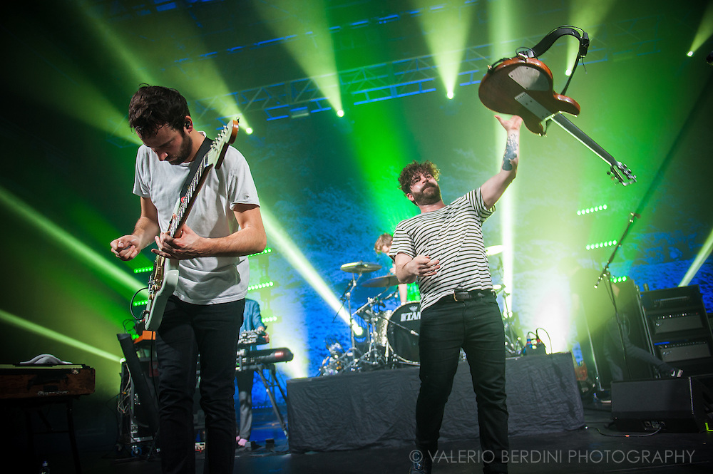 Foals live at the Cambridge Corn Exchange closing their 2015 UK tour.<br />