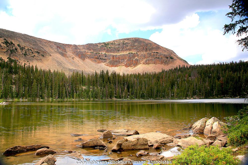 Fehr Lake With Mountain Reflection Uinta Mountains Utah