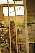 Self Portrait by Stacy Pearsall during a combat operation in New Baqubah, iraq, on April 11, 2007. <br /> <br /> Photo by Stacy Pearsall