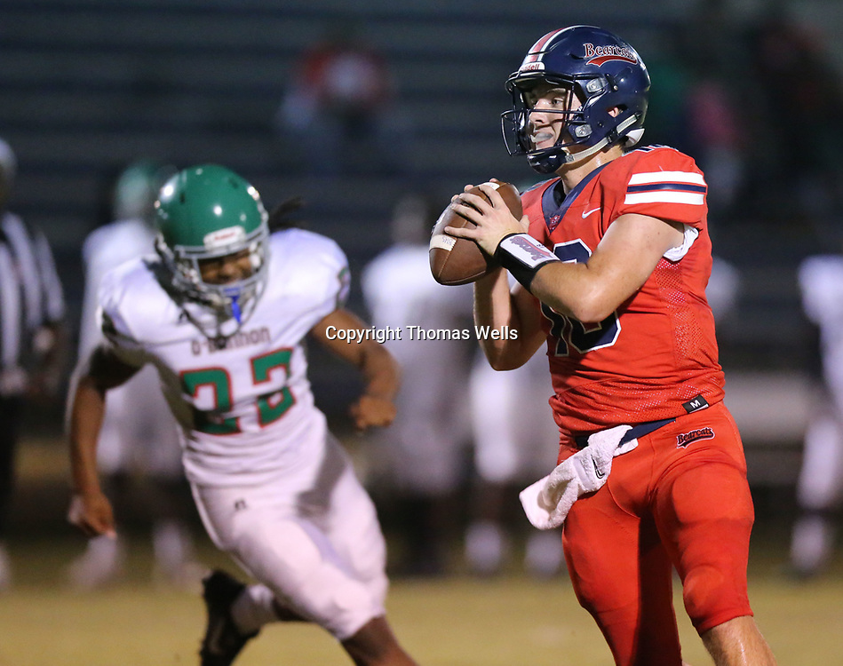 Baldwyn quarterback John Swinney helped lead the Bearcats to a 21-0 lead in the first half against O'Bannon Friday night.