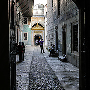 The Courtyard of the Eunichs in the Harem of the Topkapi Palace, the Ottoman palace in Istanbul's Sultanahmet district. Eunichs were entrusted to oversee the Harem and were based in rooms off this alleyway.