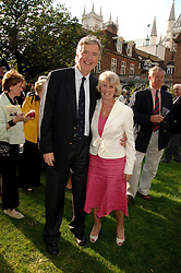 JO & JAN RICE he is the brother of Sir Tim Rice at the Lady Taverners Westminster Abbey Garden Party, The College Garden, Westminster Abbey, London SW1 on 10th July 2007.<br /><br />NON EXCLUSIVE - WORLD RIGHTS