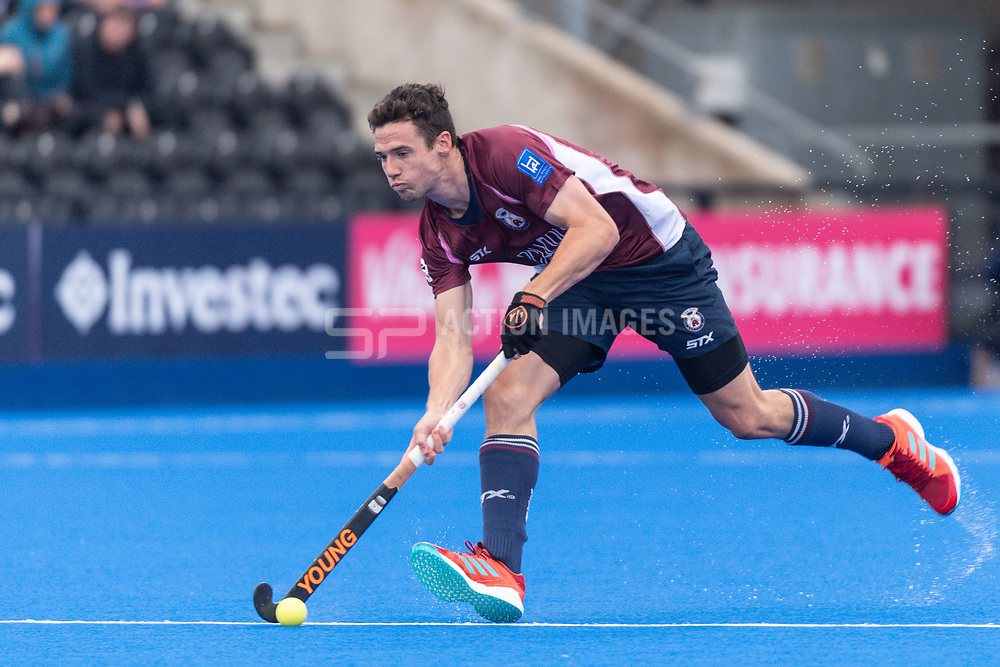 Wimbledon's Phil Roper. Wimbledon v Hampstead & Westminster - Men's Hockey League Finals, Lee Valley Hockey & Tennis Centre, London, UK on 28 April 2018. Photo: Simon Parker