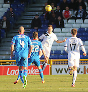 Dundee&rsquo;s Thomas Konrad heads clear - Inverness Caledonian Thistle v Dundee at Caledonian Stadium, Inverness<br /> <br />  - &copy; David Young - www.davidyoungphoto.co.uk - email: davidyoungphoto@gmail.com