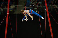 Daniel PURVIS (GBR), competes in the rings, The London Prepares Visa International Gymnastics, Olympic Test Event, North Greenwich Arena, London, England January 12, 2012.
