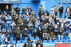 December 15, 2018 - Getafe, Madrid, Spain - Supporters of Real Sociedad in action during La Liga Spanish championship, , football match between Getafe and Real Sociedad, December 15, in Coliseum Alfonso Perez in Getafe, Madrid, Spain. (Credit Image: © AFP7 via ZUMA Wire)