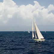 12 Meter Class Kate at the Antigua Classic Yacht Regatta