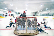 Owen Nei hockey practice at Highland Park Ice Arena in St. Paul, Wisconsin, Sunday, Nov. 3, 2019.