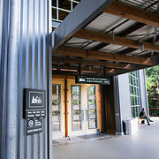 Exterior entrance of REI Seattle Washington