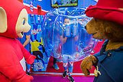 The Teletubies celebrate their 20th anniversary meet Pddington - The London Toy Fair opens at Olympia exhibition centre. Organised by the British Toy and Hobby Association it is the only dedicated toy, game and hobby trade exhibition in the UK. It runs for three days, with more than 240 exhibiting companies ranging from the large internationals to the new start up companies.