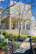J. Paul Getty Museum building Cental Garden Vertical Exterior High dynamic range imaging (HDRI or HDR) , Vertical Image