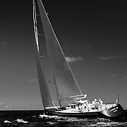 Lady B sailing in the Caribbean Superyacht Regatta and Rendezvous, race 1.