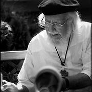 PORTRAITS / RETRATOS<br /> <br /> Ernesto Cardenal<br /> Escultor - Escritor Nicaraguense<br /> Caracas - Venezuela 2004<br /> <br /> (Copyright © Aaron Sosa)