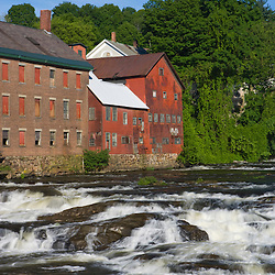Mill buildings on the Black River in Springfield, Vermont.