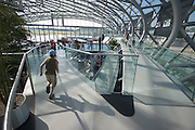 """Hangar-7; the spectacular home of the Flying Bulls (""""Red Bull"""" owner Didi Mateschitz' collection of classic airplanes) next to Salzburg W.A. Mozart airport."""