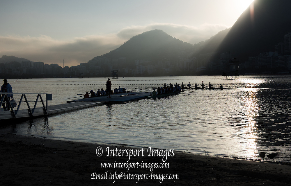 Rio de Janeiro. BRAZIL.   2016 Olympic Rowing Regatta. Lagoa Stadium,<br /> Copacabana,  &ldquo;Olympic Summer Games&rdquo;<br /> Rodrigo de Freitas Lagoon, Lagoa.   Saturday  13/08/2016 <br /> <br /> [Mandatory Credit; Peter SPURRIER/Intersport Images]