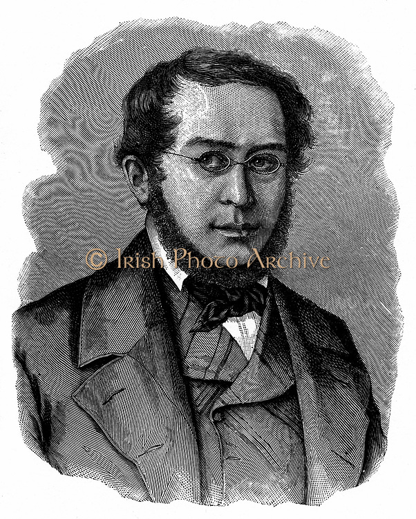 Pierre Joseph Proudhon (1809-1868) French socialist and journalist 'Property is Theft'. Engraving