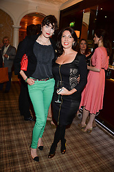 Left to right, JASMINE GUINNESS and CHLOE FRANCIS at the Blue Monday Cheese Launch presented by Alex James and held at The Cadogan Hotel, Sloane street, London on 11th June 2013.