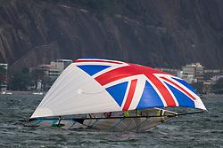 Rio 2016, Brazil Rio de Janeiro  August 2016 Guanabara Bay, 49erFX racing during the Rio 2016 Olympic Games