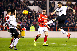 Bradley Johnson of Derby County shoots at goal - Mandatory by-line: Robbie Stephenson/JMP - 25/02/2019 - FOOTBALL - The City Ground - Nottingham, England - Nottingham Forest v Derby County - Sky Bet Championship