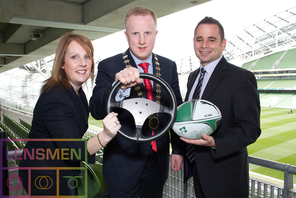 Keep your eye on the ball, your hands on the wheel and charge with your team to success!..Natasha Kinsella FIHI, CEO,IHI, Fergal O'Connell FIHI, IHI President, Dave Magrogan, Rihno Living.com