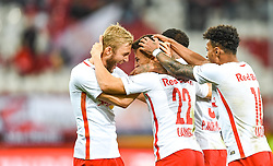 20.11.2016, Red Bull Arena, Salzburg, AUT, 1. FBL, FC Red Bull Salzburg vs SK Rapid Wien, 15. Runde, im Bild Torjubel Red Bulls nach dem 2:0, v.l.: Konrad Laimer, Stefan Lainer, Valentino Lazaro // Goal Celebration Red Bulls Konrad Laimer, Stefan Lainer, Valentino Lazaro during Austrian Football Bundesliga 15th round Match between FC Red Bull Salzburg and SK Rapid Vienna at the Red Bull Arena, Salzburg, Austria on 2016/11/20. EXPA Pictures © 2016, PhotoCredit: EXPA/ JFK