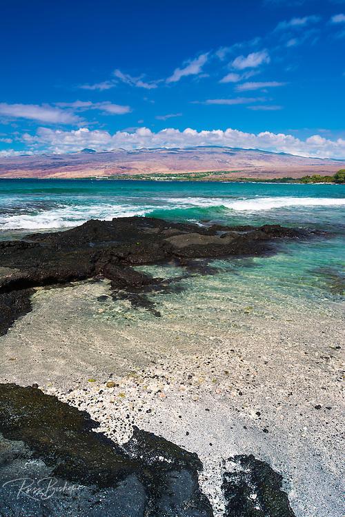 The Kohala Mountains from Puako, Kohala Coast, The Big Island, Hawaii, USA
