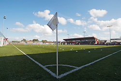 Ochilview Park is a football stadium in Stenhousemuir, Scotland. It is the home ground of Stenhousemuir FC..Stenhousemuir 2 v 1 East Fife, 24/9/11..©Pic : Michael Schofield.