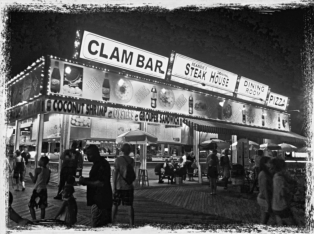 Clam Bar at Seaside Heights,Boardwalk,NJ,2011