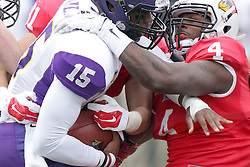 03 October 2015:  Aaron Bailey(15) & David Perkins(4). NCAA FCS Football between Northern Iowa Panthers and Illinois State Redbirds at Hancock Stadium in Normal IL (Photo by Alan Look)