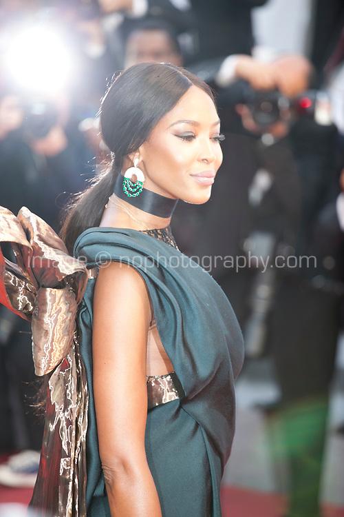 Naomi Campbell at the Blackkklansman (Black Klansman) gala screening at the 71st Cannes Film Festival, Monday 14th May 2018, Cannes, France. Photo credit: Doreen Kennedy