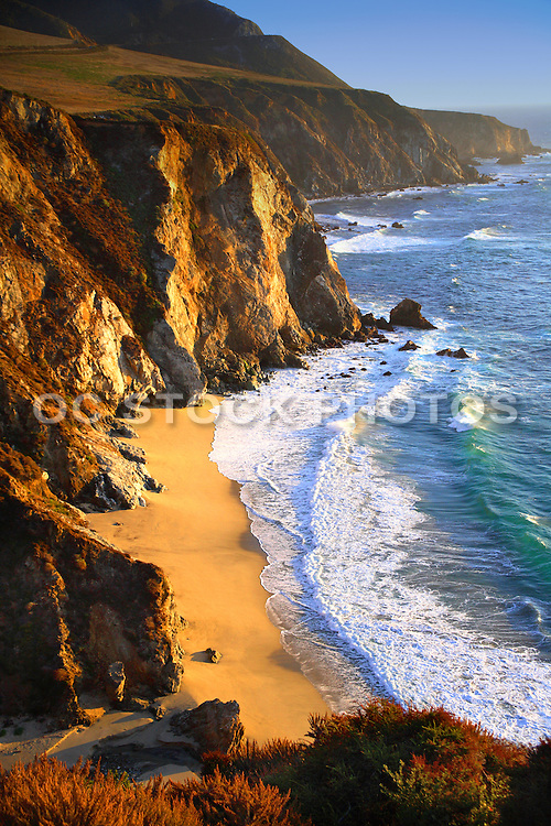 Central California Coast In The Afternoon Sun