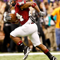 December 18, 2010; New Orleans, LA, USA; Troy Trojans wide receiver T.J. Mitchell (24) during the 2010 New Orleans Bowl against the Ohio Bobcats at the Louisiana Superdome.  Mandatory Credit: Derick E. Hingle