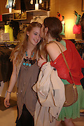 Mary Charteris and Anouskha Beckwith. H&M Flagship Store launch. at 17-21 Brompton Road, Knightsbridge. London. SW1. 23  March 2005. ONE TIME USE ONLY - DO NOT ARCHIVE  © Copyright Photograph by Dafydd Jones 66 Stockwell Park Rd. London SW9 0DA Tel 020 7733 0108 www.dafjones.com