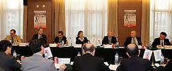 28-08-2010 VOLLEYBAL: WGP FINAL FIVB MEETING: BEILUN NINGBO<br /> Word Grand Prix Council meeting with Mr. Doug Beal, Mr. Hassan Mohamed, Mr. Shanrit Wongprasert, Ms. Gabrielle van Zwieten, FIVB president Mr. Jizhong Wei, Mr. Masao Tachiki , Mr. Katsumi Wakao<br /> ©2010-WWW.FOTOHOOGENDOORN.NL