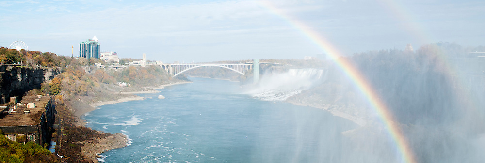 A view of the Canada and U.S. shores of Niagara Falls.
