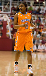 December 19, 2009; Stanford, CA, USA;  Tennessee Lady Volunteers guard Briana Bass (1) during the second half against the Stanford Cardinal at Maples Pavilion.  Stanford defeated Tennessee 67-52.