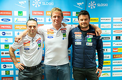 Janez Slivnik, Klemen Bergant and Peter Pen during press conference of Slovenian Alpine Ski team and coaching team for new season 2019/20, on May 6th, 2019, in SZS, Ljubljana, Slovenia. Photo by Vid Ponikvar / Sportida
