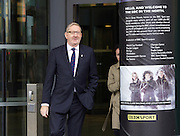 Len Mccluskey leaving the Andrew Marr show at Mediacity, Salford, Manchester, Great Britain <br /> 4th October 2015 <br /> <br /> Len McClusky <br /> Gen Sec <br /> Unite <br /> <br /> <br /> Photograph by Elliott Franks <br /> Image licensed to Elliott Franks Photography Services