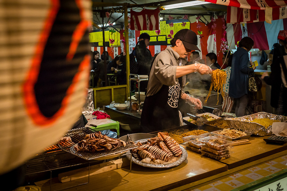 Yakisoba (fried japanese noodles) are also a very common festival food