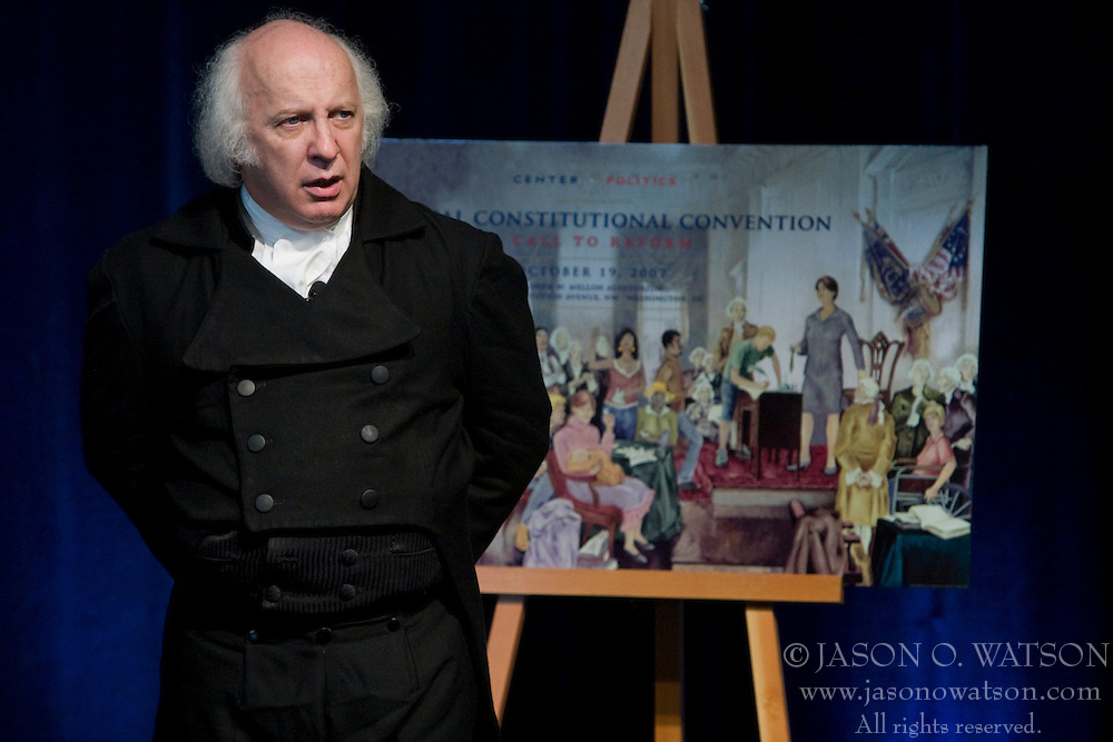 """Thomas Jefferson and James Madison re-enactors discuss constitutional history and the potential changes to the Constitution as presented in Larry J. Sabato's book """"A More Perfect Constitution"""".  The University of Virginia's Center for Politics, founded in 1998 by Professor Larry Sabato, hosted the 11th annual Virginia Political History Project open house at Montesano on the Grounds of the University of Virginia in Charlottesville, VA on June 6 and 7, 2008."""