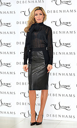 Abbey Clancy launches the Ultimo Valentines Collection at Debenhams, Oxford Street, London, UK. <br /> Tuesday, 11th February 2014. Picture by Ben Stevens / i-Images