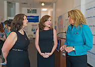 L-R, ANDREA MILLER, President of NARAL Pro-Choice New York; KATHLEEN RICE, Democratic candidate for Congress in New York's 4th Congressional District; and JOANN SMITH, President of Planned Parenhood of Nassau County Action Fund, are having a discussion after a joint press conference where Rice was endorsed for Congress by NARAL and Planned Parenthood Of Nassau Count Action Fund, at the Rice Campaign Field Office. Rice is in her third term as Nassau County District Attorney, Long Island.
